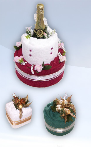 TEXTILNÍ dorty a dárky - dorty z ručníku a osušek